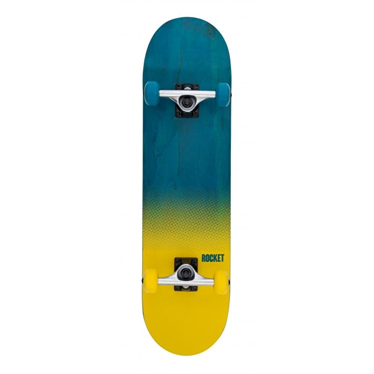 Rocket Fade Series Complete Skateboard - Blue/Yellow 8""