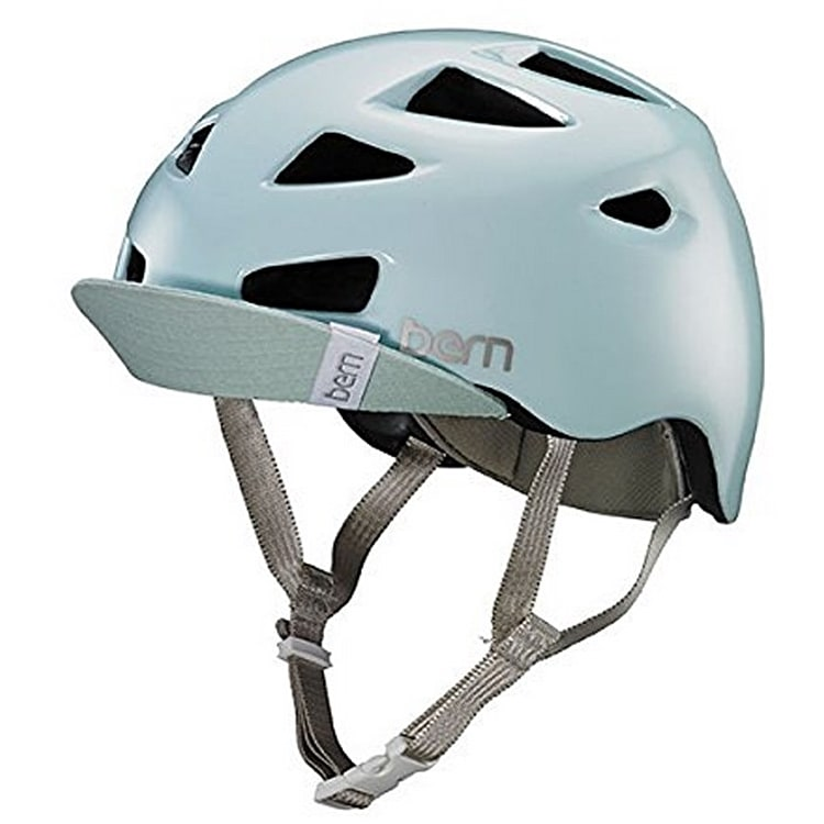 Bern Melrose With Flip Visor Helmet - Satin Sea Glass