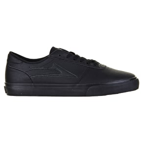 Lakai Manchester Skate Shoes - Black/Black Synthetic