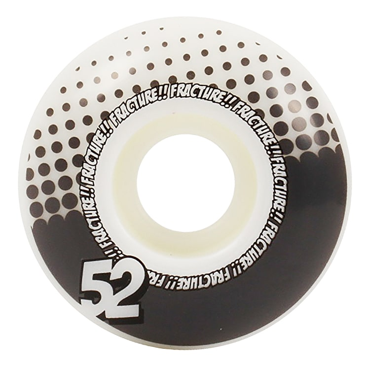 Fracture Drops Skateboard Wheels - Grey 52mm (Pack of 4)