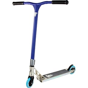 Grit Invader 2015 Complete Scooter - Raw/Satin Blue