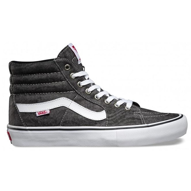 Vans Sk8-Hi Pro Shoes - (Distortion) Black/White