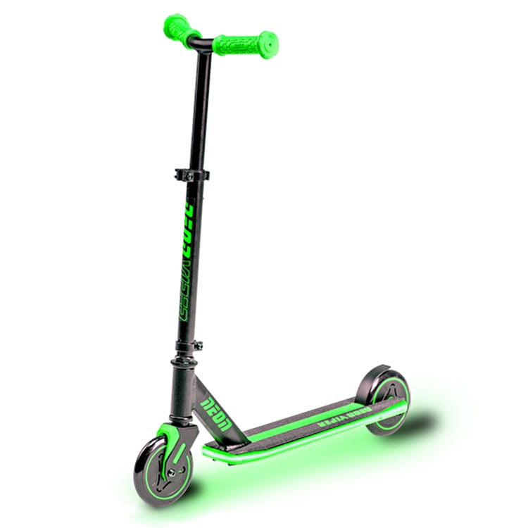 Neon Viper Light Up Complete Scooter - Green