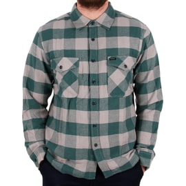 Brixton Hayes Long Sleeve Flannel Shirt - Concrete