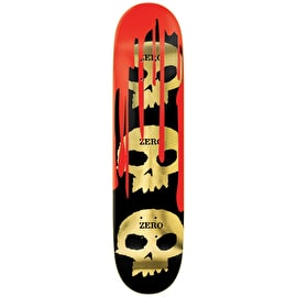 Zero Burman 3 Skull Blood Skateboard Deck 8.25