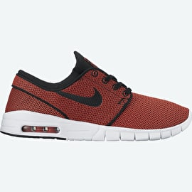 Nike SB Stefan Janoski Max Skate Shoes - Black/Black/Max Orange