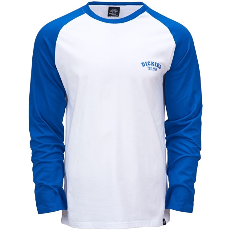 Dickies Baseball Long Sleeve T Shirt - Royal Blue