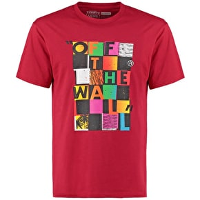 Vans Checker Blaster II Kids T-Shirt - Cardinal