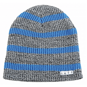 Neff Daily Stripe Beanie - Grey/Blue