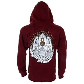 Rebel8 Zip Hoodie - Cathedral of the 8 - Burgundy