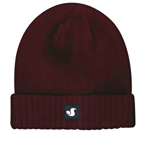 DVS Woven Damask Label Cuffed Beanie - Deep Red