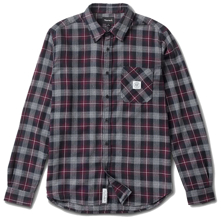 Diamond Catskill Plaid Shirt - Navy