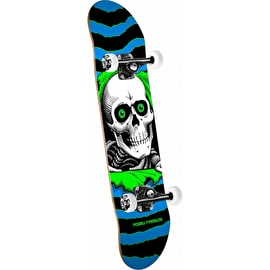 Powell Peralta One Off Ripper Complete Skateboard - Blue/Green 7.75