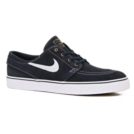 Nike SB Zoom Stefan Janoski Shoes - Dark Obsidian/White