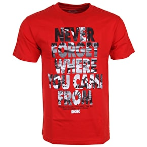 DGK Never Forget T-Shirt - Red