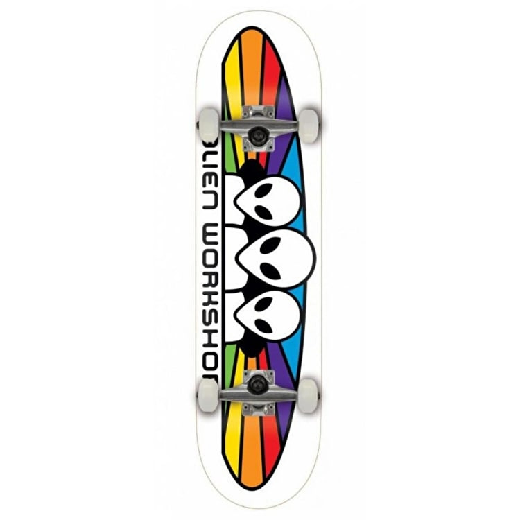 Alien Workshop Spectrum Complete Skateboard - White 7.875""