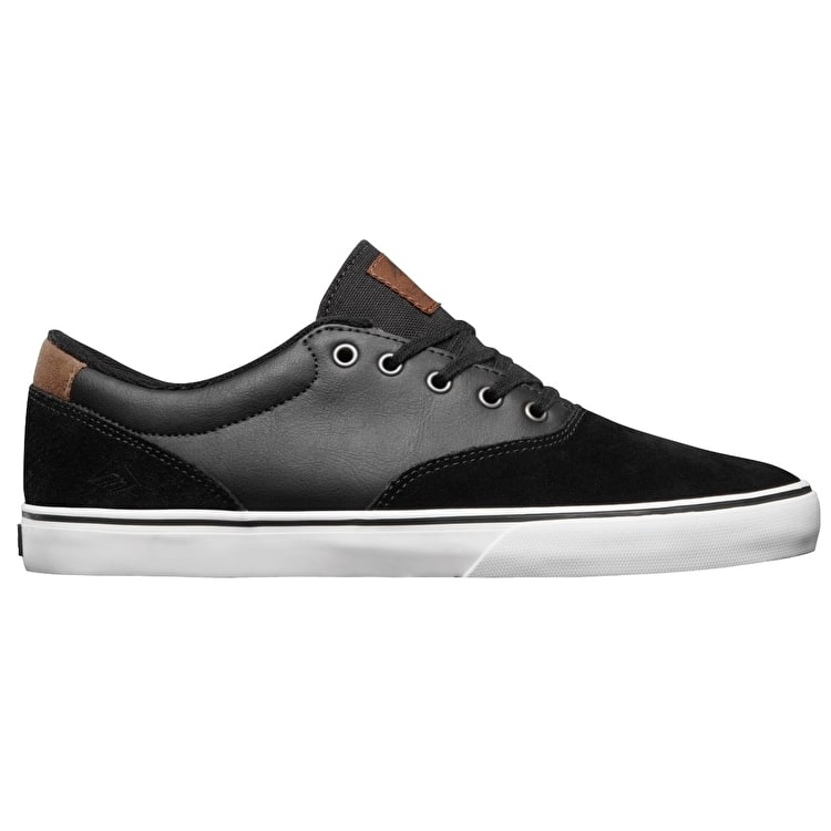 Emerica Provist Slim Vulc Skate Shoes - Black/Brown