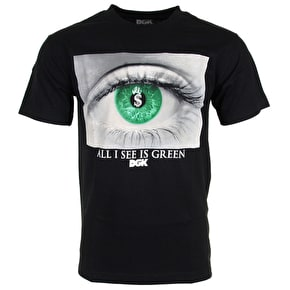 DGK I See Green T-Shirt - Black