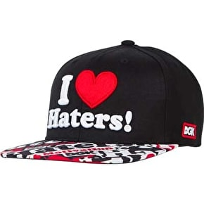 DGK Haters Snapback Cap - Black/Collage
