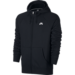 Nike SB Icon Full Zip Hoodie - Black/White