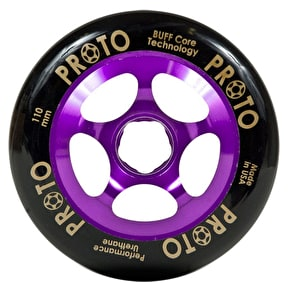 Proto 110mm Gripper Wheel - Black on Purple