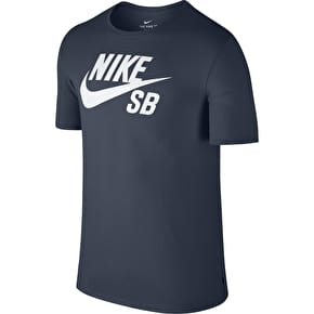 Nike SB Logo T-Shirt - Thunder Blue/White