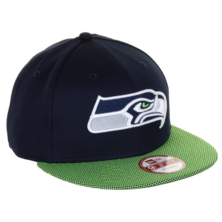 New Era 9Fifty Seahawks Snapback Cap - Navy/Green