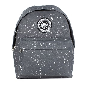 Hype Quilted Backpack- Grey/White Speckle