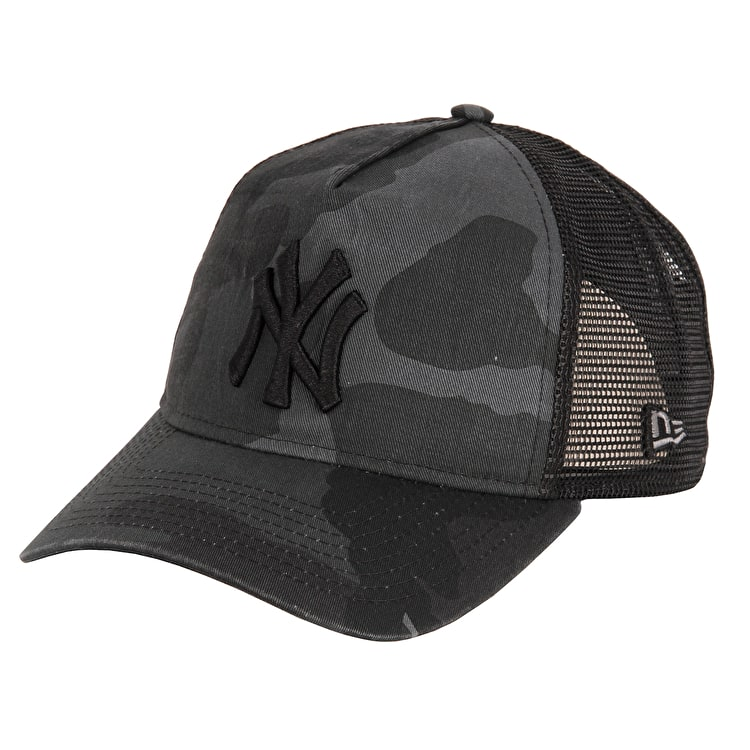 New Era Washed Camo 9Forty NY Yankees Cap - Midnite Camo