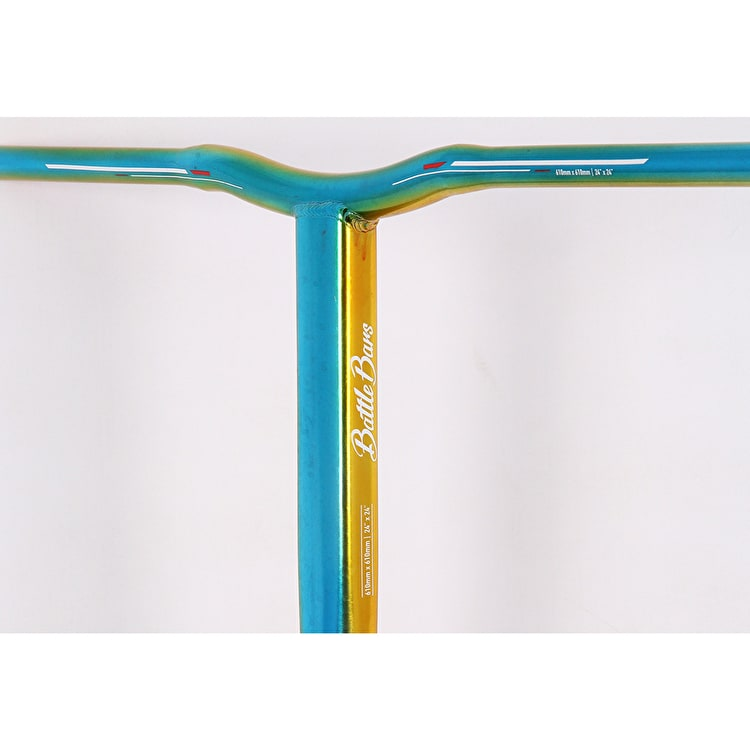 Grit Battle SCS Scooter Handle Bars - Blue/Yellow/Red 680mm