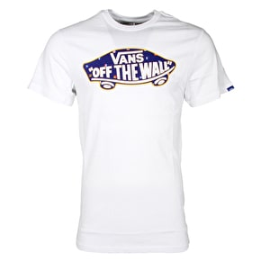 Vans OTW Logo Fill T-Shirt - White/Nautical Flags