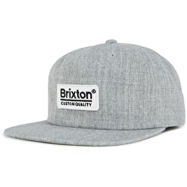 Brixton Palmer MP Snapback Cap - Heather Grey