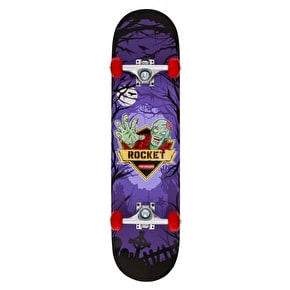 Rocket Logo Series Creeper Complete Skateboard - Purple 7.5
