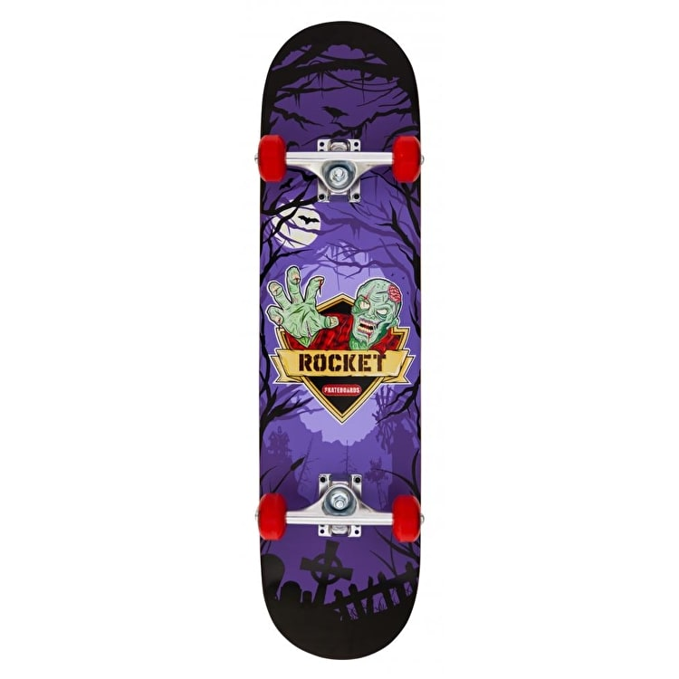 Rocket Logo Series Creeper Complete Skateboard - Purple 7.5""