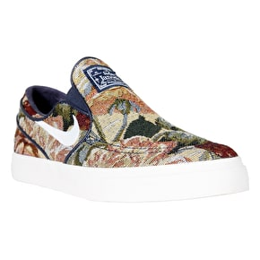 Nike SB Zoom Stefan Janoski Slip On Canvas Premium Skate Shoes - Multi/Wite