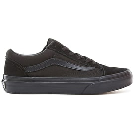 Vans Old Skool Kids Skate Shoes - Black/Black