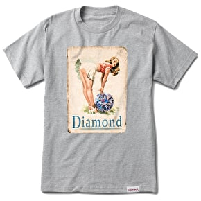 Diamond Pin Up Girl T-Shirt - Heather