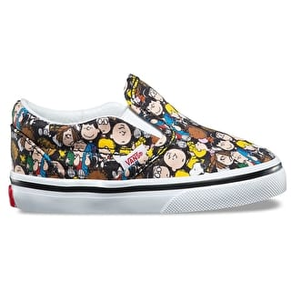 Vans x Peanuts Classic Slip-On Toddler Shoes - The Gang/Black
