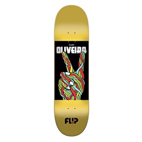 Flip Oliveira Peace Skateboard Deck - Yellow 8.13