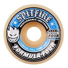 Spitfire Formula Four Conical Full 99D Skateboard Wheels - Blue (Pack of 4)