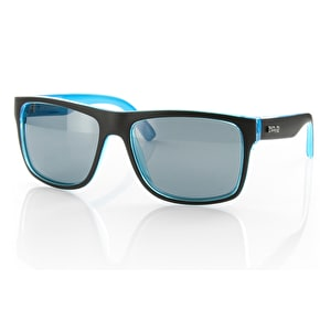Carve Crimson Sunglasses - Matt Black/Cyan/Polarised