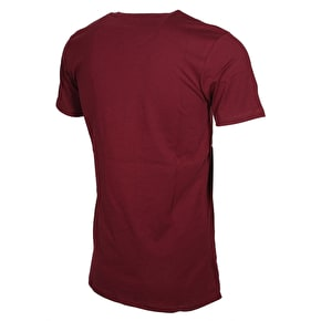 Hype Brush Stroke Circle T-Shirt - Burgundy