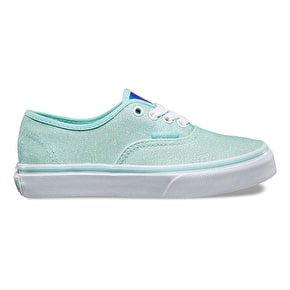 Vans Authentic Skate Shoes - (Glitter & Iridescent) Blue/True White