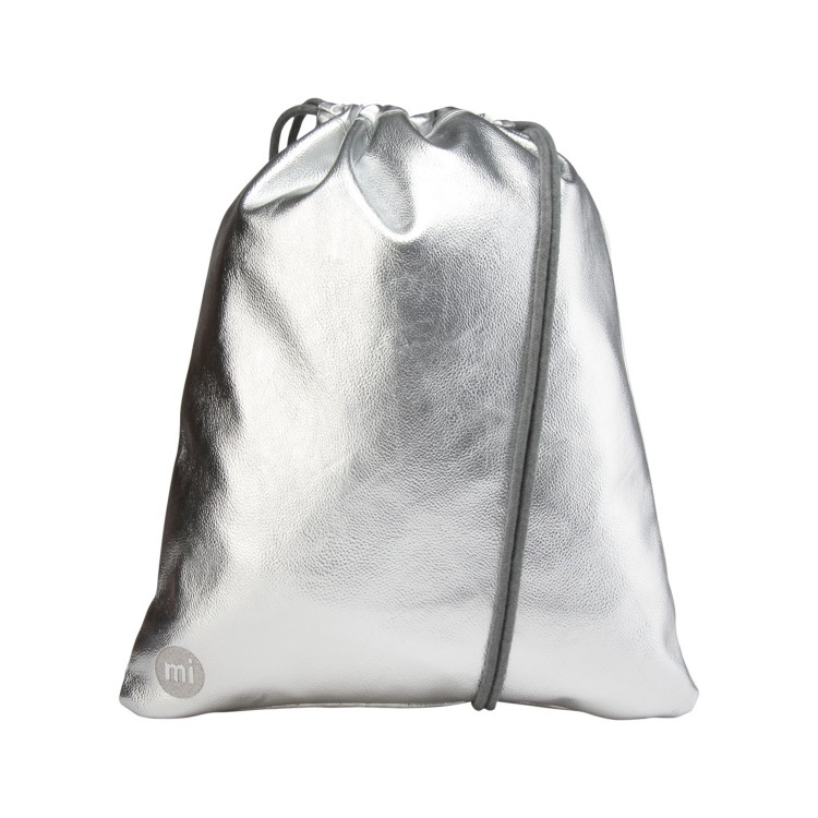 Mi-Pac Metallic Drawstring Kit Bag - Silver