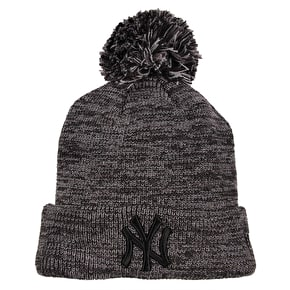 New Era MLB Marl Bobble Knit Beanie - Yankees - Grey/Graphite/Black