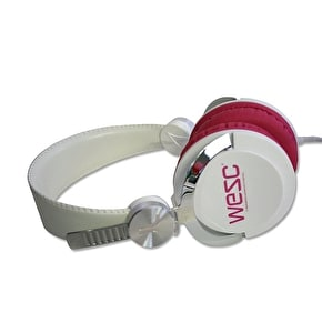 WeSC Bass DJ Headphones - White/Pink