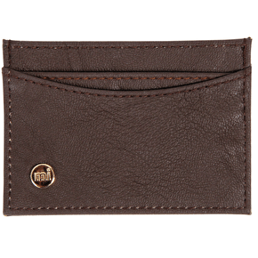 Mi-Pac Card Holder - Matte Dark Brown