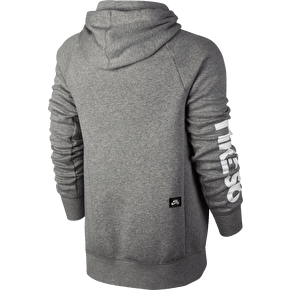 Nike SB Icon Geo Hoodie - Grey Heather/White