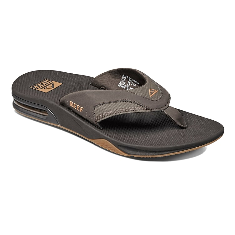 Reef Fanning Flip-Flops - Brown/Gum