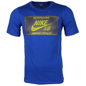 Nike SB Kids T-Shirt - Woven Label - Game Royal